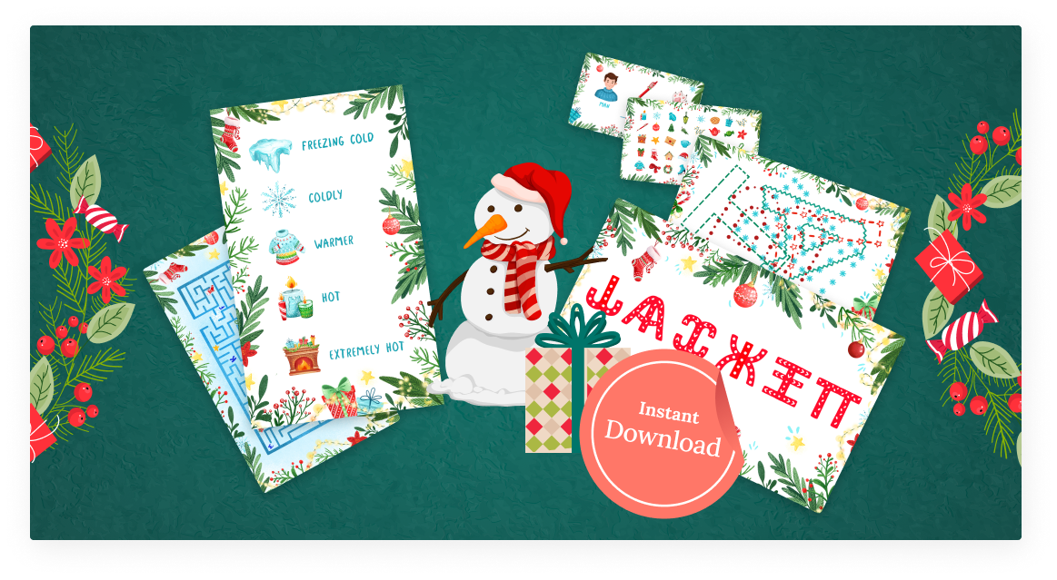 Free printable winter quest for kids
