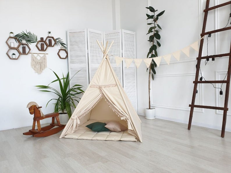 indoor tent in a child's room