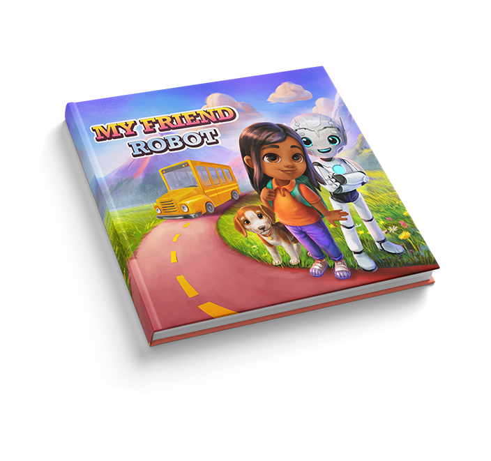 """Personalized book for children """"My Friend Robot"""" by LionStory"""